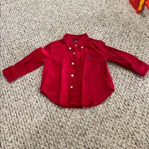 Polo Ralph Lauren Baby Boys Corduroy red shirt 12M